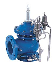 Pressure reducing valve,pressure,control valve,Bermad,pressure reducing control valve