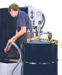 Two-Way, Air, Operated, Drum, Pump, Dual-Force Vac, in/out pump, wet/dry vac